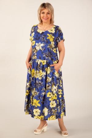 Платье Зоряна Милада цветочное макси