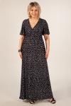 Платье Клеопатра Милада в горох для полных