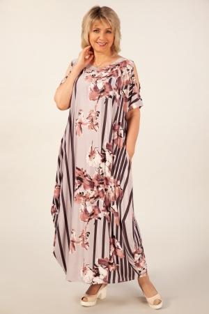 Платье Алиса Милада макси бохо 64 размера