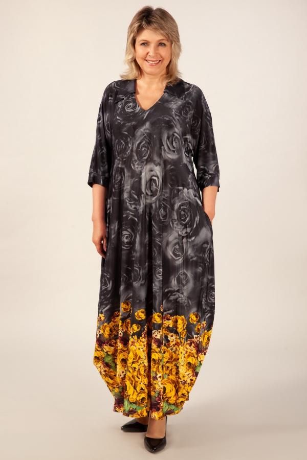 Милада бохо цвет горчичный Платье Тамара