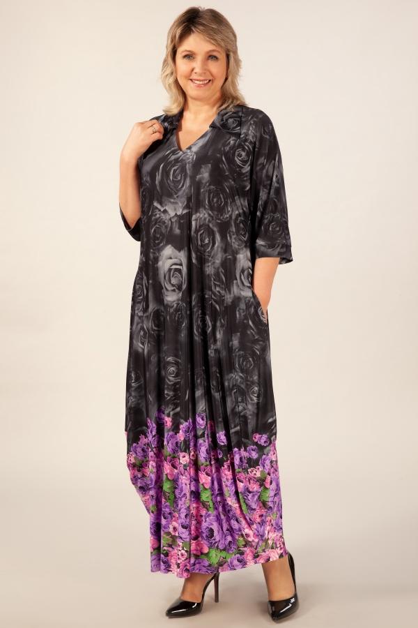 Милада цвет сиреневый Платье Тамара