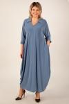 Платье Эмили Милада макси цвет голубой