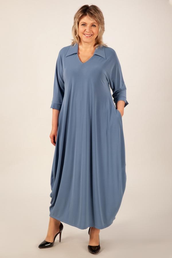 Милада макси цвет голубой Платье Эмили