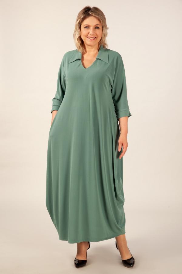 Милада цвет фисташковый Платье Эмили