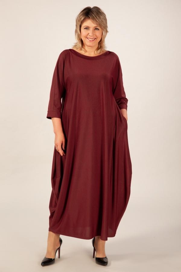 Милада цвет вишневый Платье Эвита