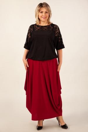 Блуза Лили Милада блузка с гипюром для полных
