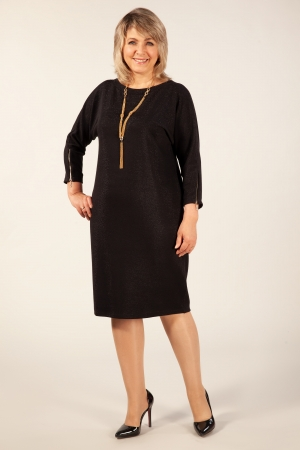 Платье Глория Милада черное длина миди