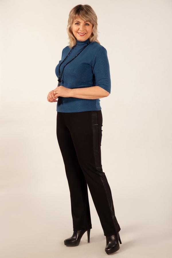 Милада брюки для полных женщин с лампасами из кожи Брюки Бостон