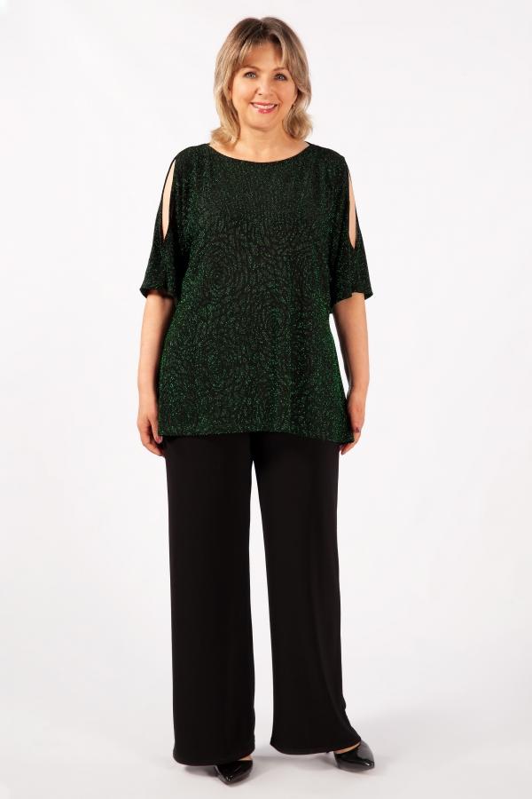 Милада нарядная на большие размеры Блуза Эстель