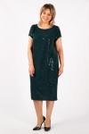Платье Канны Милада зеленое с пайетками фото
