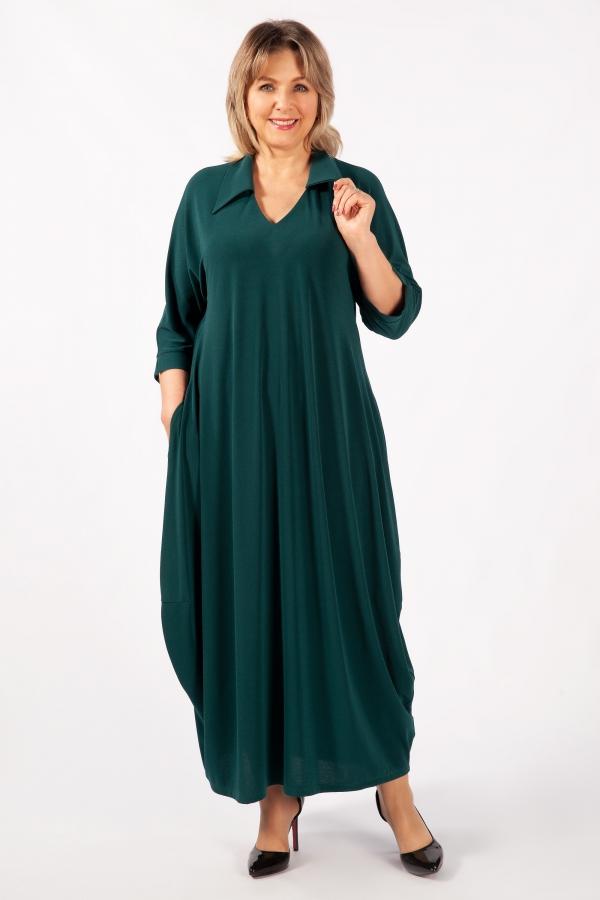 Милада макси зеленое Платье Эмили