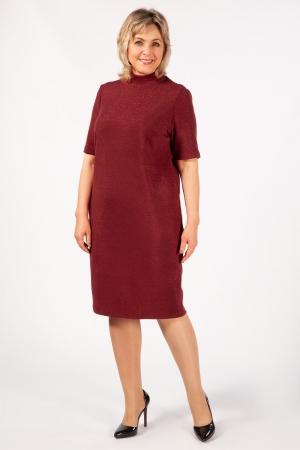 Платье Беатрис Милада водолазка бордовый