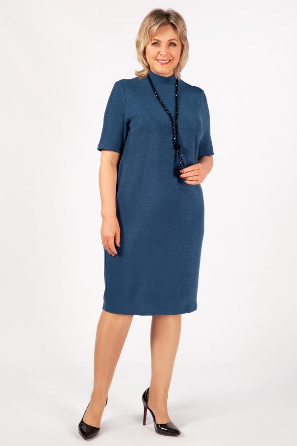 Милада для больших размеров с люрексом Платье Беатрис