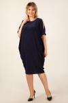 Платье Тиффани Милада бохо синего цвета