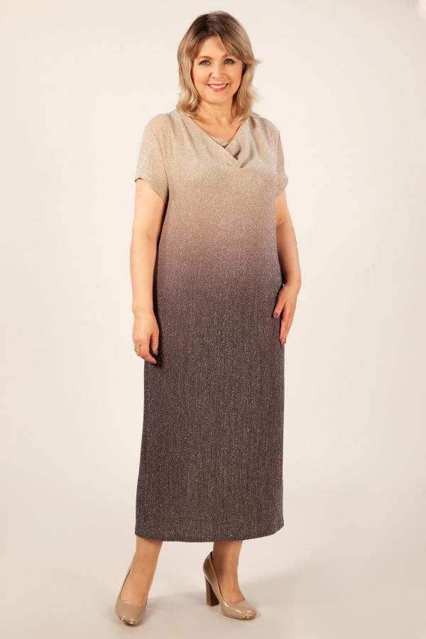 Милада макси блестящее Платье Зарема