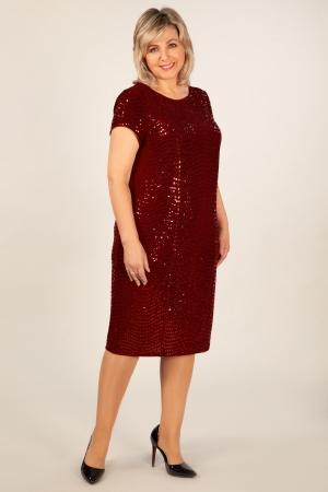 Платье Канны Милада бордовое платье с пайетками фото