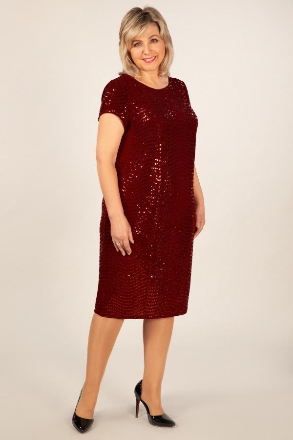 Милада бордовое платье с пайетками фото Платье Канны