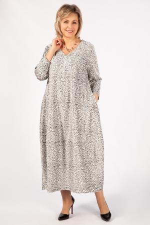 Платье Альбина Милада длинное с v образным вырезом