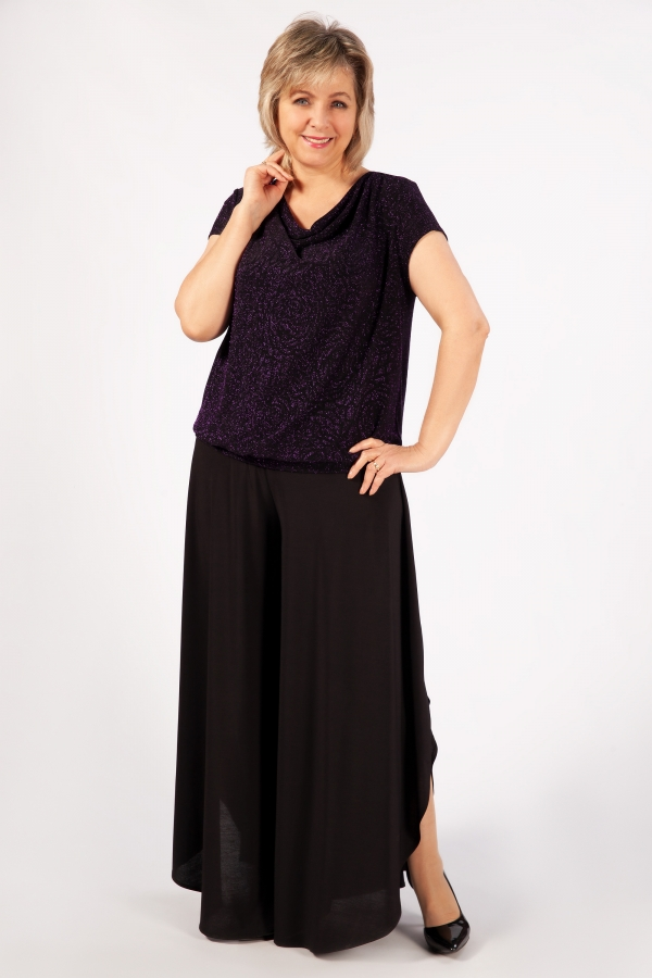 Милада большого размера блестящая Блуза Сильвер