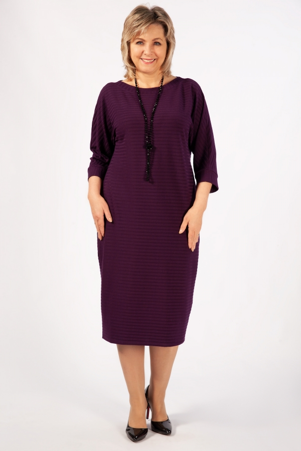 Милада миди фиолетового цвета Платье Беретта
