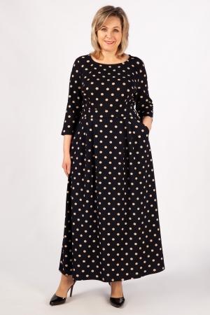 Платье Дарина Милада горох больших размеров