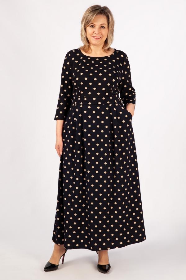 Милада горох больших размеров Платье Дарина