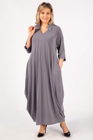 Платье Эмили Милада макси бохо серое