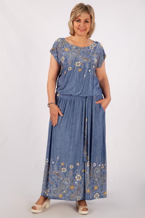 Милада в пол 50-64 размеров Платье Анджелина-2