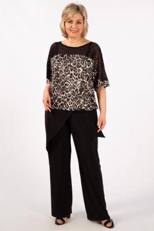 Блуза Даниэла Милада с гипюром больших размеров
