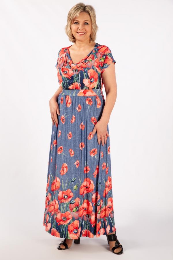 Милада макси 64 размера Платье Бланка