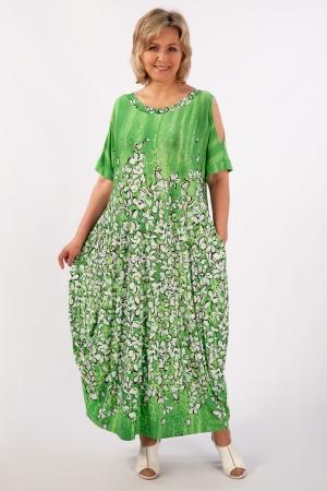 Платье Алиса Милада с вырезами на рукавах