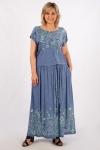 Платье Анджелина-2 Милада длинное летнее с вышивкой
