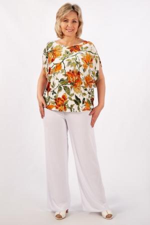 Блуза Василина Милада для полных с коротким рукавом