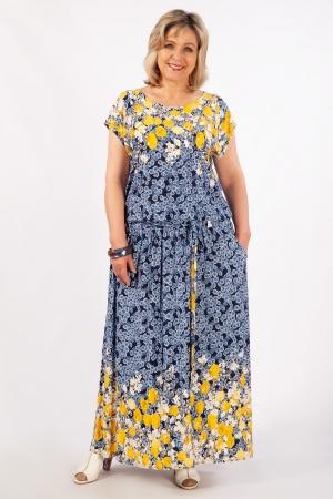 Платье Анджелина-2 Милада летнее длинное с тюльпанами