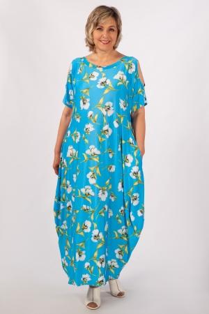 Платье Алиса Милада летнее бохо голобое