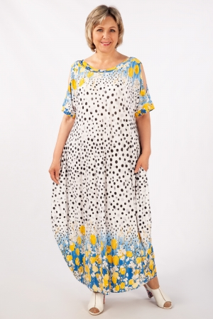 Платье Алиса Милада летнее для полных с тюльпанами
