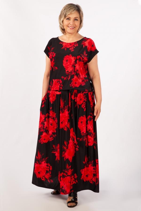 Милада длинное для полных Платье Анджелина-2
