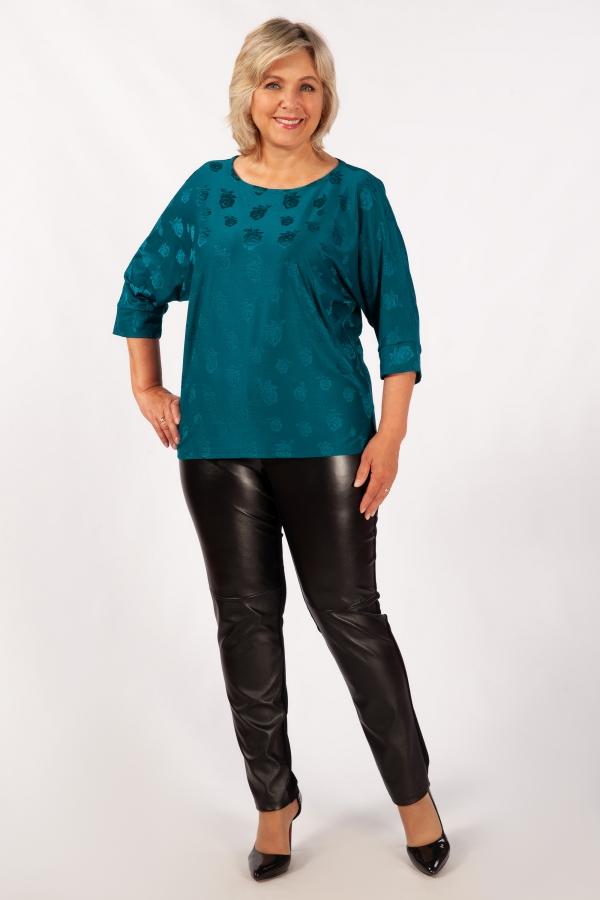 Милада бирюзового цвета Блуза Дейзи