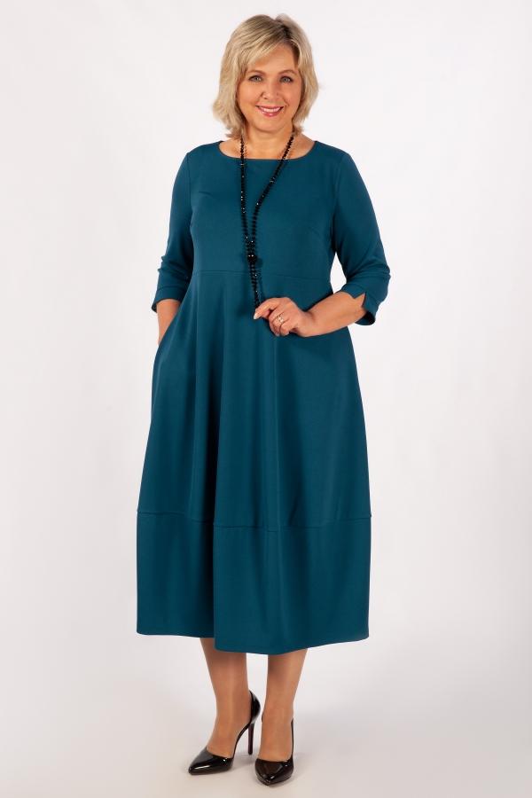 Милада длина макси цвет голубой Платье Трейси