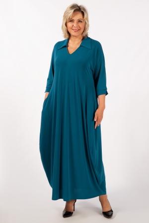 Платье Эмили Милада макси бирюзовое