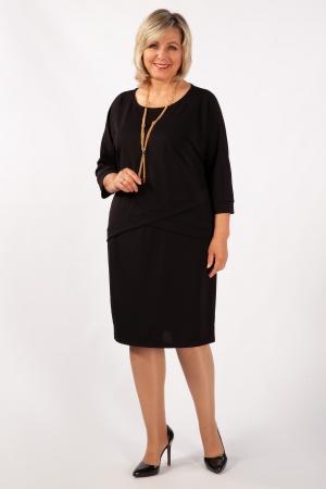 Платье Леди Милада миди на большой размер фото