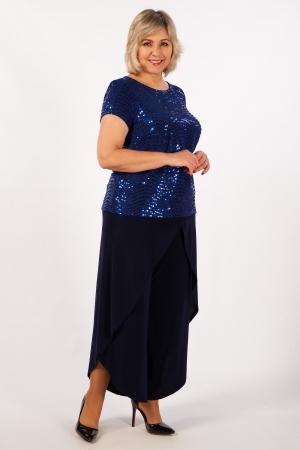 Блуза Бэль Милада больших размеров вечерняя