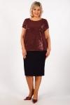 Блуза Бэль Милада блестящая на большие размеры