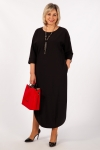 Платье Мона Милада макси черного цвета