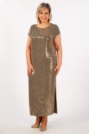 Платье Диор Милада макси длина с пайетками