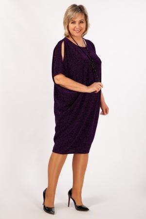 Платье Тиффани Милада с люрексом фиолетовое
