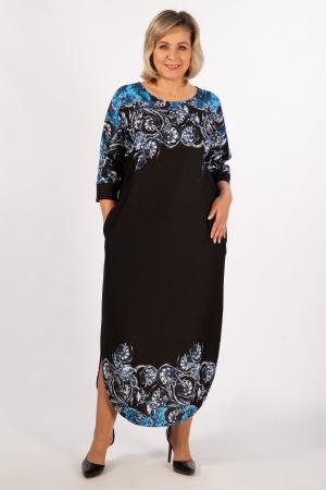 Платье Моника Милада в пол с разрезами