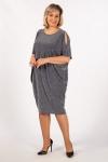 Платье Тиффани Милада с люрексом синее