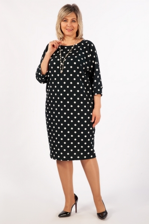 Платье Наоми Милада горох больших размеров