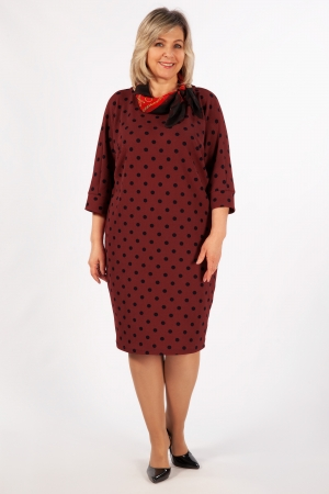 Платье Наоми Милада в синий горох для полных